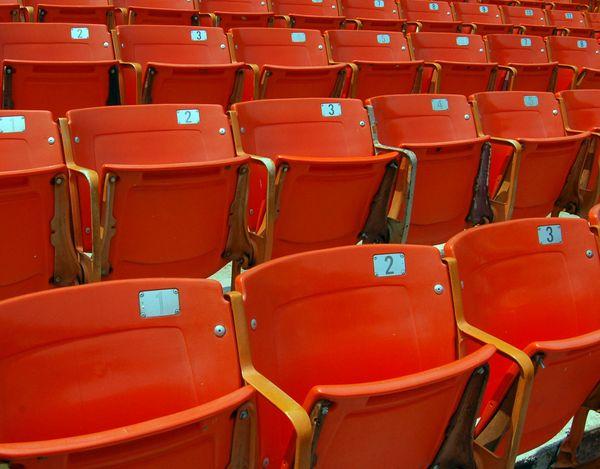 Empty stadium seats at old RFK Stadium in Washington, D. C. thumbnail