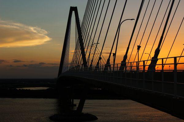 The Arthur Ravenel Jr. Bridge During Sunset thumbnail