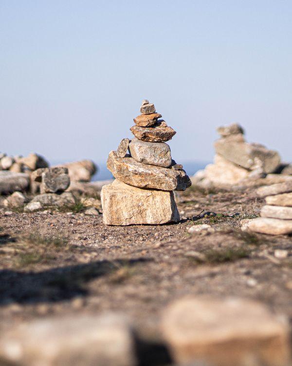 a humble pile of rocks atop Kaunispää tunturi thumbnail