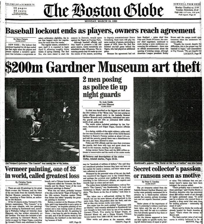 Five Things to Know About the Gardner Museum Heist—the Biggest Art Theft in Modern History