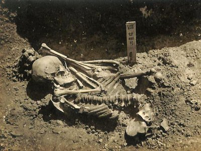 Though researchers recovered most of the person's remains,  experts were unable to find some portions of his skeleton.