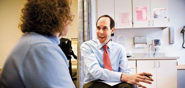 Dr Druker with patient