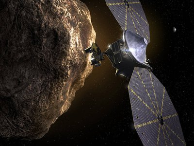 Lucy measures more than 46 feet wide, and about 24 feet tall and is equipped with solar arrays on its main body that allow it to power up its instruments. Each camera will enable Lucy to study the surface of the asteroids, detect traces of water or minerals, and count craters or rings.