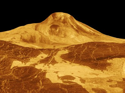Maat Mons, Venus' highest volcano, one of several that may still be active in present day