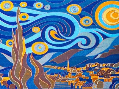 Researchers created this 3- by 2-centimeter version of The Starry Night in just four minutes.
