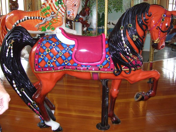 This carousel horse was the first addition of the Albany Carousel & Museum, I found out during a tour. thumbnail