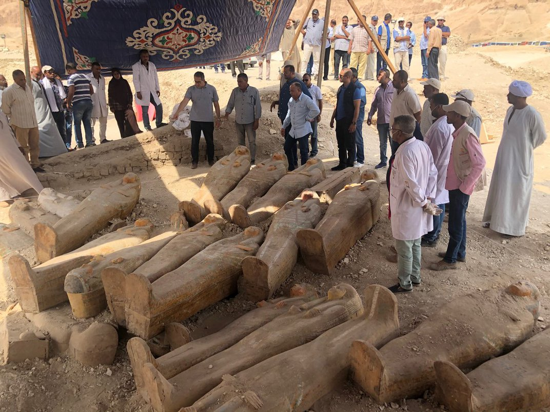 Archaeologists Discover 20 Sealed Ancient Egyptian Coffins