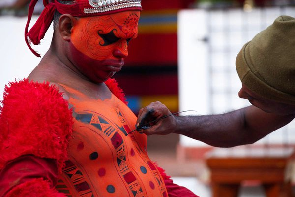 body painting for the theyyam ritual thumbnail