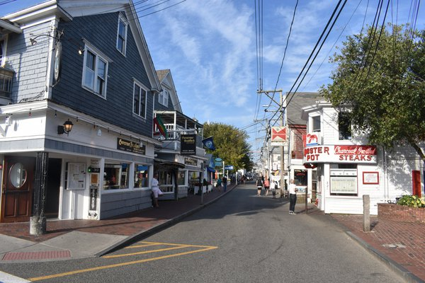 Commercial Street in Provincetown During Off Season thumbnail