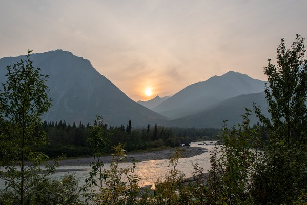 Smoky Mountain Sunset in Denali National Park thumbnail