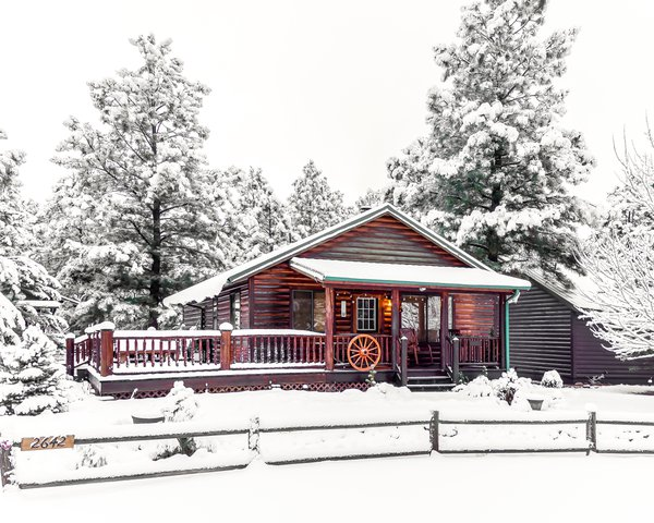 A cabin in the snow thumbnail