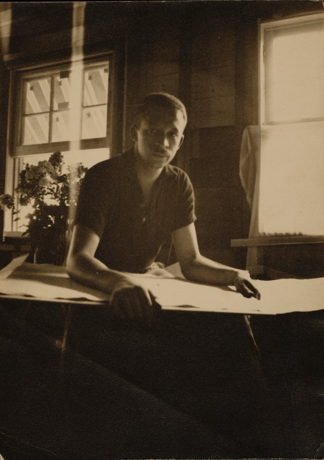 Photograph of Charles Henry Alston in his studio