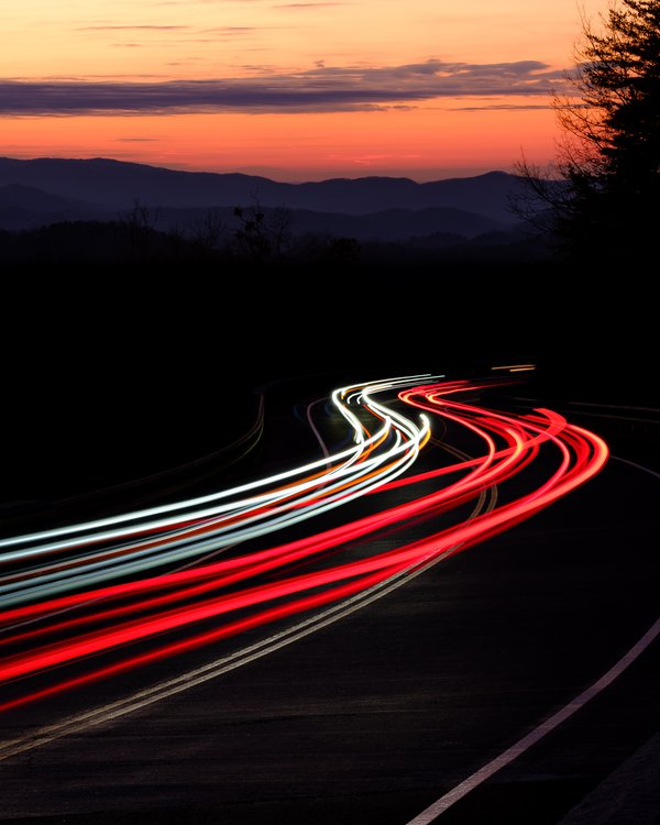 Light Trails on Foothills Parkway thumbnail