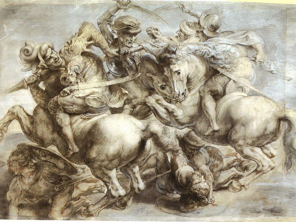 Ruben's Sketch of <em>The Battle of Anghiari</em>
