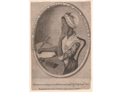 Phillis Wheatley was the first African American to publish a book and the first American woman to earn a living from her writing. This frontispiece engraving is held in the collections of the Smithsonian's National Portrait Gallery.