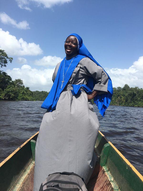 Nun traveling on the Suriname River thumbnail