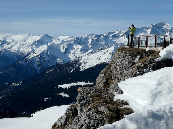 Taking in the views in Madonna di Campiglio, Italy thumbnail