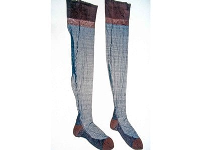 The first pair of experimental nylon stockings made by Union Hosiery Company for Du Pont in 1937 resides in the Smithsonian collections.