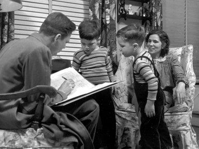 Only 20 questions were on the 1950 census form, which made it easier for this Virginia mother to respond to the enumerator's survey while at home with her young children.