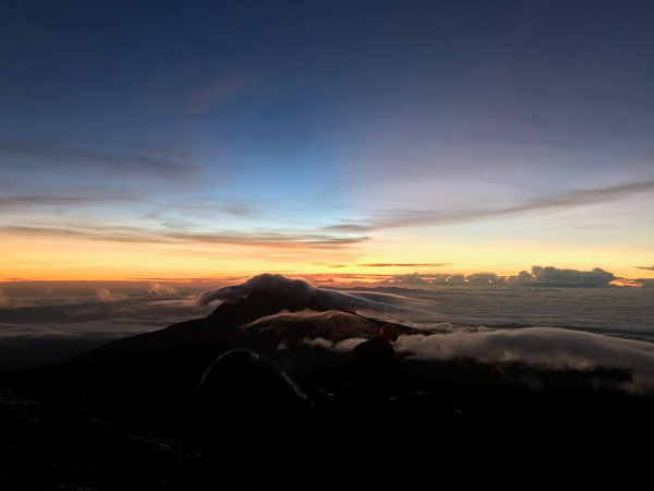 Sunrise Over Mt. Meru Two Hours From the Summit of Mt. Kilimanjaro thumbnail