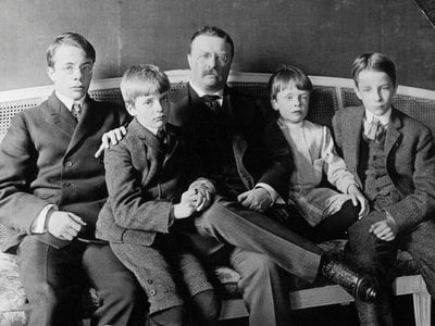 Theodore Roosevelt with his four sons