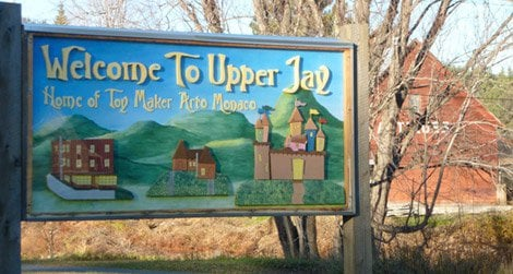 Sign for Upper Jay