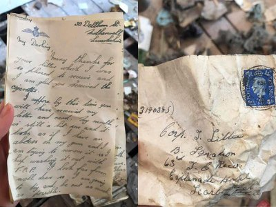 Researchers suspect that a soldier and his girlfriend wrote the missives between 1941 and 1944.