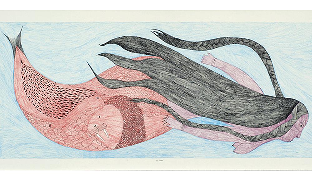 Ningiukulu Teevee, (Canadian [Cape Dorset], b. 1963),