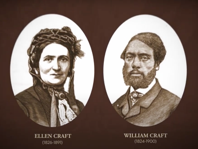 Ellen disguised herself as a sickly white man, while William played the part of her enslaved valet.