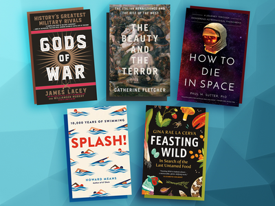 This month's selections include The Beauty and the Terror, Feasting Wild and Splash.