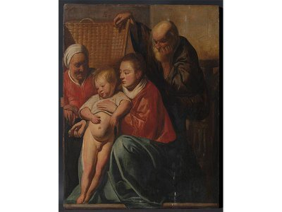 Experts have identified the painting as the earliest known version of Jacob Jordaens' The Holy Family (1617–18).