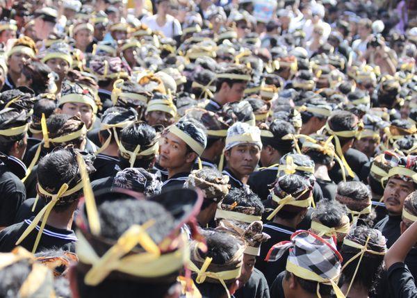 Attendees at royal Balinese Cremation Cermenony  thumbnail