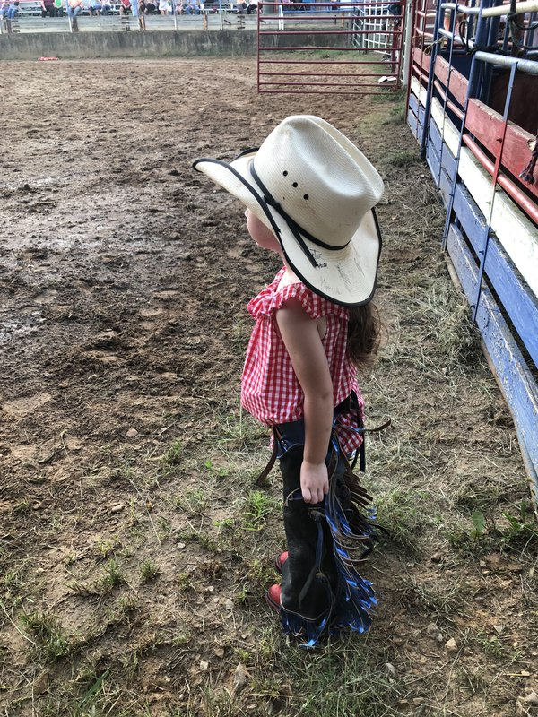Cowgirl ready for her ride  thumbnail