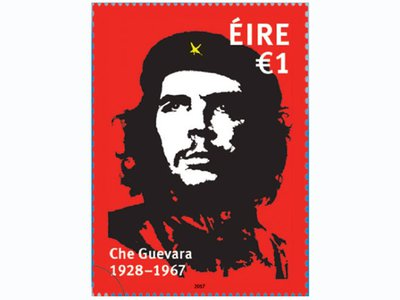 50th Anniversary of the death of Che Guevara €1.00 Stamp based on artwork by Jim Fitzpatrick.