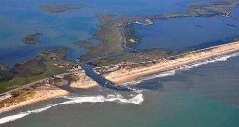 Irene created a new channel across a North Carolina barrier island