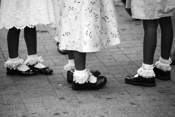 lacey dresses, socks and party shoes thumbnail