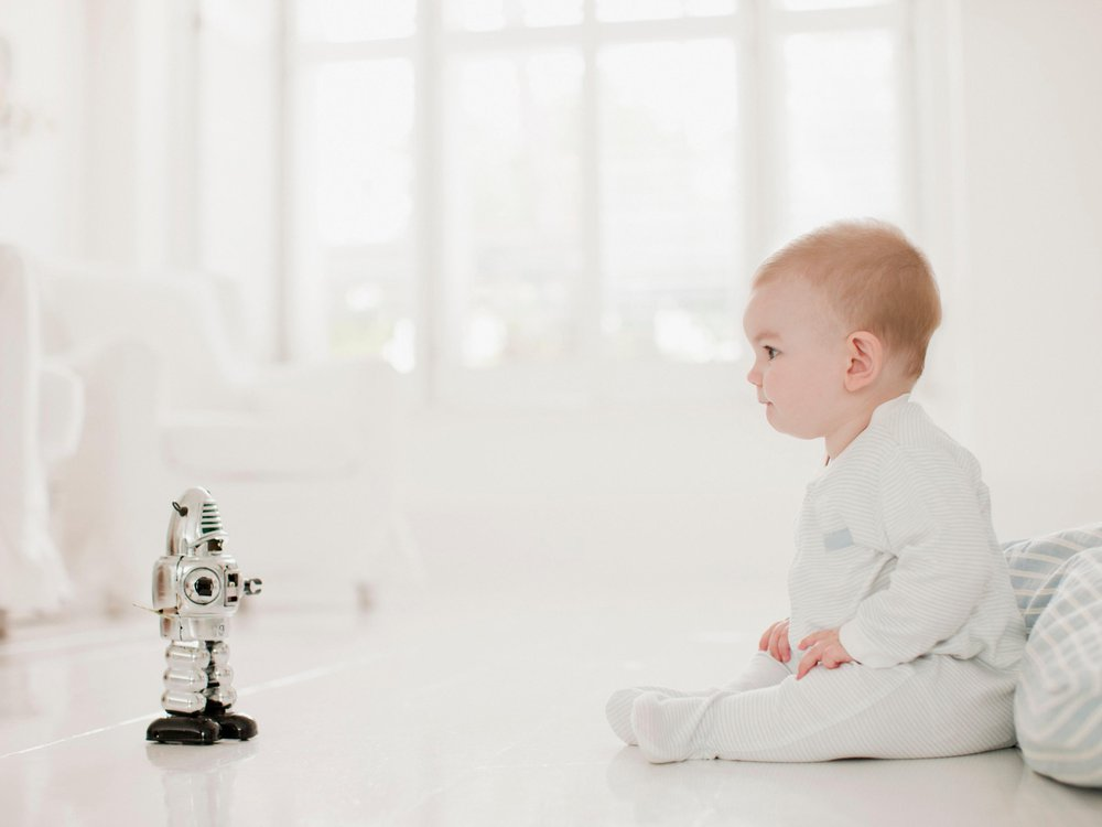 Robot and baby