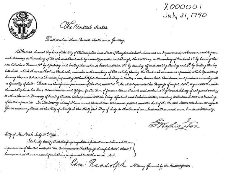 What the First Three Patents Say About Early America
