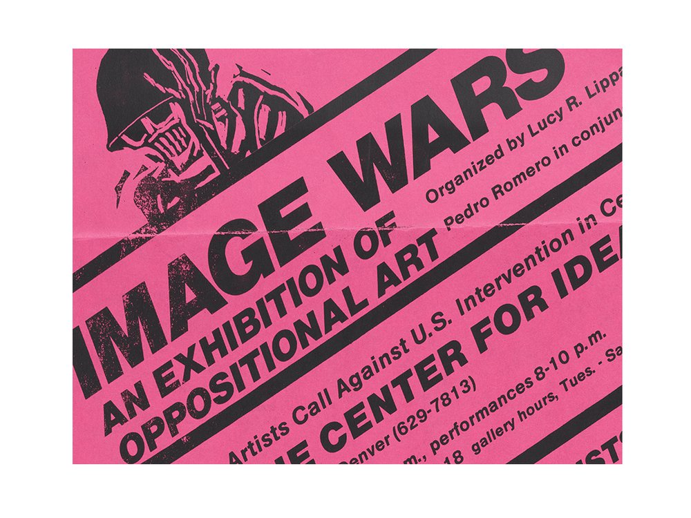 The Center for Idea Art. Flyer for Image Wars: an Exhibition of Oppositional Art, 15 May – 18 June 1984. Juan Sánchez papers, 1972-2010. Archives of American Art, Smithsonian Institution.