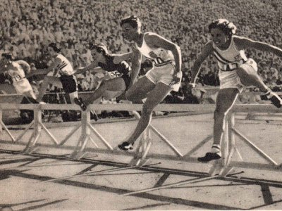 Babe Didrickson's brash behavior along with her decorated athleticism (above: second from right in the 80-meter hurdle) challenged every imagined ideal for a woman athlete in the 1930s.