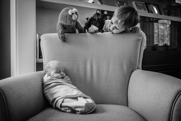 A puppet show for his newborn brother thumbnail