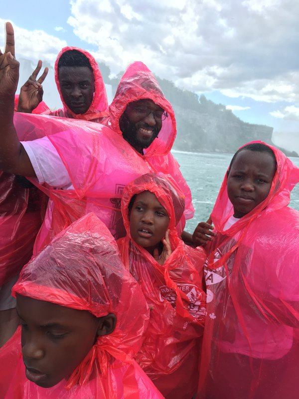 Getting wet on the Horn Blower while cruising Niagara Falls thumbnail