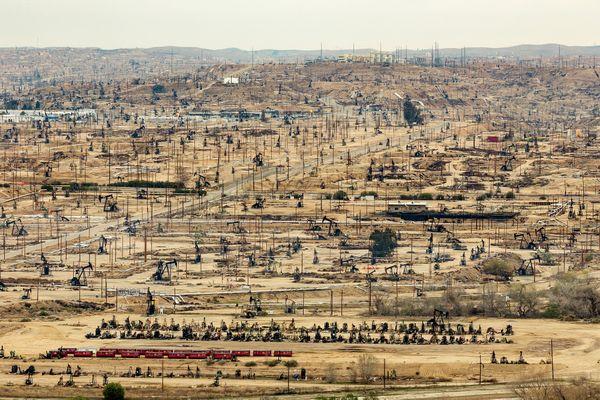 Oilfields at Oildale, near Bakersfield, CA. Study #9 thumbnail