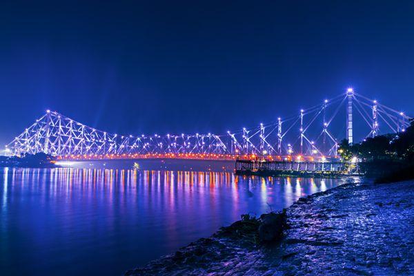Lightened Howrah Bridge. thumbnail