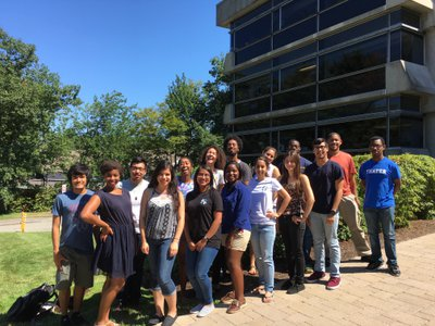 Astronomy students at the Banneker and Aztlán Institutes in Cambridge, Massachusetts.