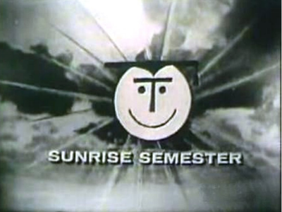 """Between 1957 and 1982, """"Sunrise Semester"""" broadcasted lectures from NYU faculty to the general public."""