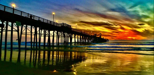 sunset at oceanside pier thumbnail