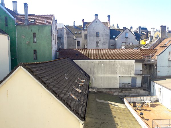 Roofs out the airbnb window, Bergen, Norway. thumbnail