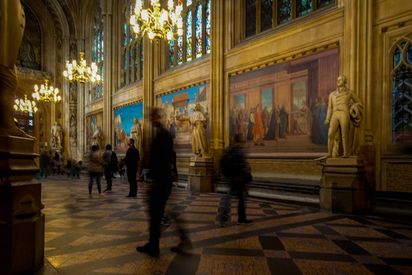 St. Stephen's Hall, Houses of Parliament, London thumbnail