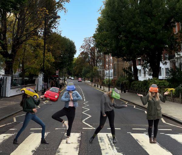 Abbey Road zebra stripes revisited. thumbnail